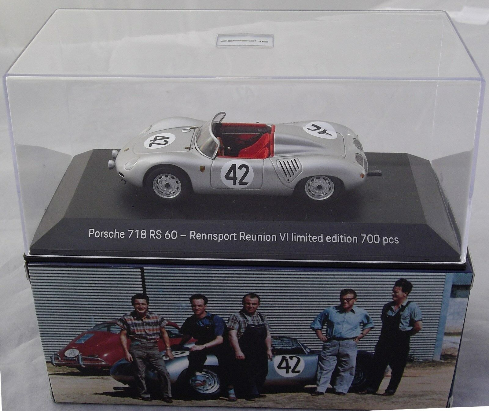 Porsche 718 RS 60 Reunion VI 2018 1 43 Limited 700 PCS Minichamps Spark NEW