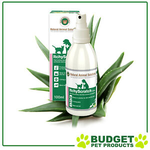 Natural Animal Solutions Anti Itching Itch Itchy Skin Scratching Spray Cats Dogs
