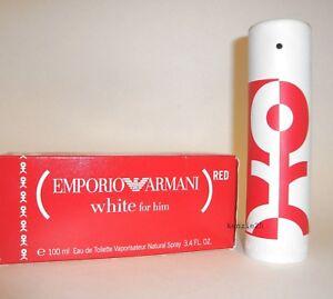 zum halben Preis sehen Talsohle Preis Details about EMPORIO ARMANI WHITE FOR HIM 3.4 OZ MEN PERFUME EDT SPRAY 100  ML NIB RED