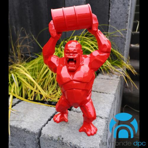 sculture origami statue gorille tonneau Wild Kong Gorilla 28cm Ugual®