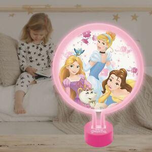 Disney-Princess-Lumiere-Fluo-Chevet-Tables-Bureaus-Chambre-Enfants