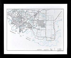 Map Of Texas Mexico Border Towns.Texas Map Brownsville Town Plan Cameron County Matamoros