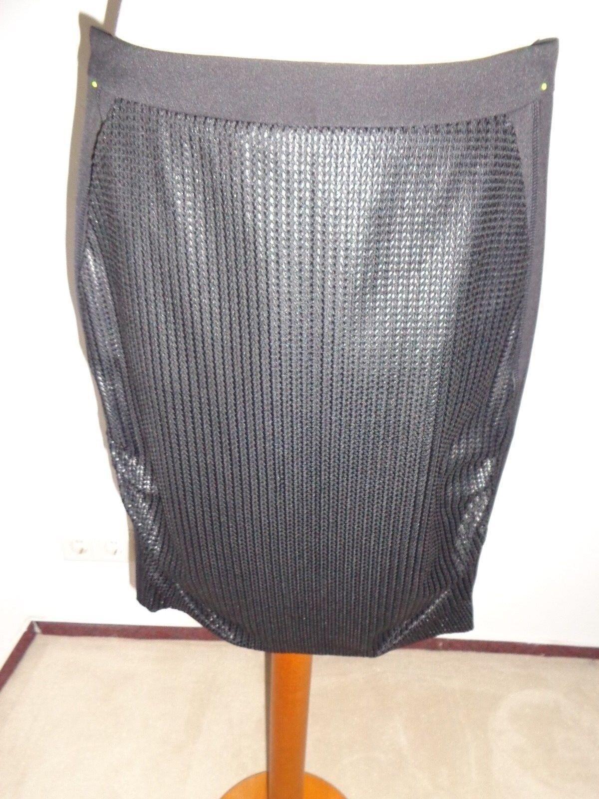 WIE NEU Designer Rock MARC CAIN gr N1 34 (F  36) gonna jupe skirt schwarz luxus