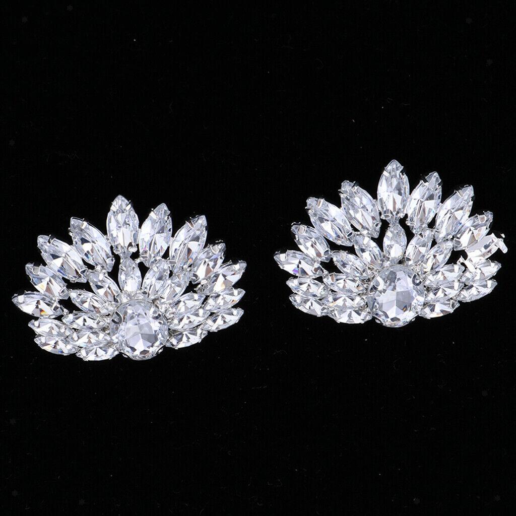 1 pair of crystal shoe buckle shoe clip appliqué for bridal weddings
