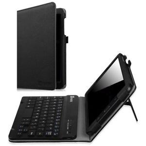big sale aae89 c8de9 Details about Fintie Samsung Galaxy Tab E 8.0 Keyboard Case, Slim Fit Folio  PU Leather Case