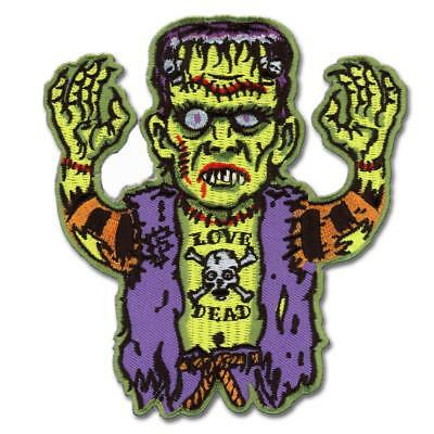 Rotten Zombie Hand Patch Embroidered Iron On Sew On Biker Skater Horror