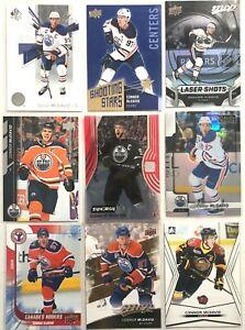 Connor-Mcdavid-9-Card-Lot-Laser-Shots-Shooting-Stars-Authentic-Edmonton-Oilers
