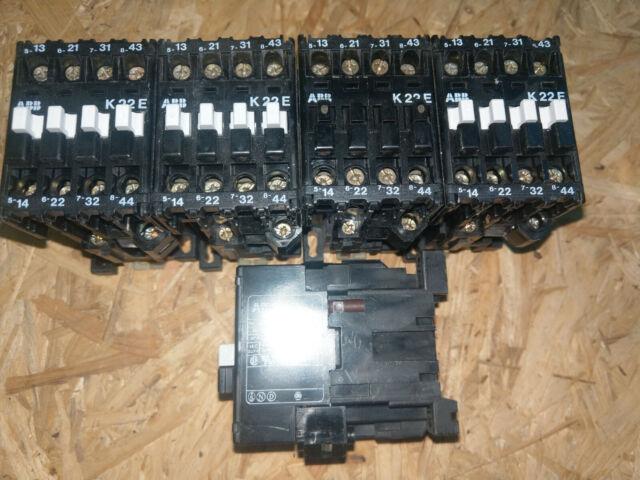 2x ABB K22E Hilfsschütz Auxiliary Contactor Schütz 10A Spule 220V Inventar Kauf