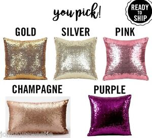 Glam Pillow Cover Decorative Home Decor Sequin Purple Pink ... - photo#25