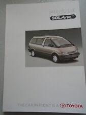 Toyota Previa Solair SE brochure c1990's