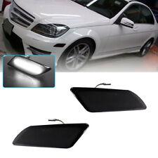 Front Side Bumper White Led Marker Lights For 12 14 Mercedes Benz C250 C300 C350