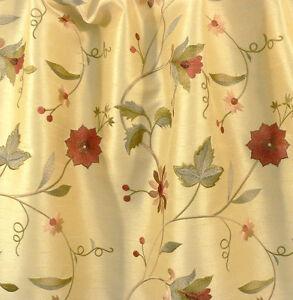 Cortinas-Tela-para-Tapizar-Bordado-Floral-Imitacion-Seda-Shantung-Amarillo