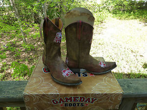 9acc7137370 Details about Gameday Boots Women's MSU University of Mississippi Bulldogs  Cowboy Boots 11