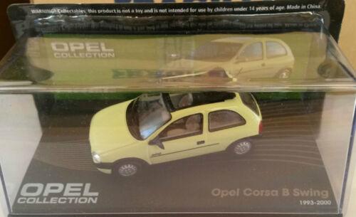 "DIE CAST /"" OPEL CORSA B SWING 1993-2000 /"" OPEL COLLECTION SCALA 1//43"