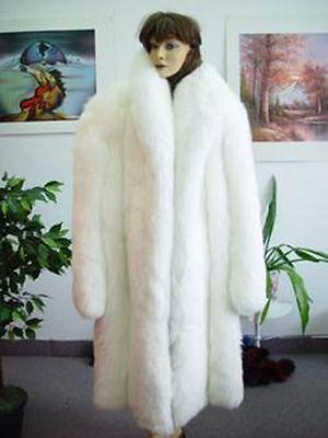 White Fox Fur Coat Jacket Woman Women, White Fox Fur Coat Collar