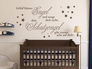 Wandtattoo Kinderzimmer Sprüche Schlaf kleiner Engel Nr 1 ...