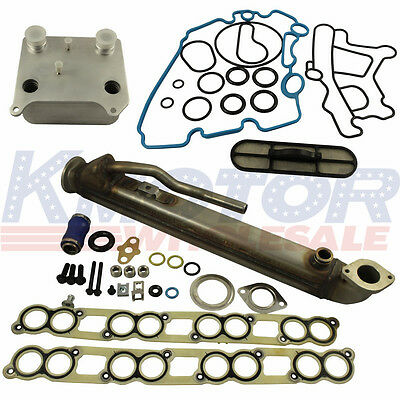 Upgraded Oil Cooler Kit /& EGR Cooler Kit for Ford 6.0L Turbo