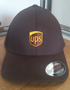 Image is loading UPS-United-Parcel-Service-Flexfit-Work-Hat-CUSTOMIZED- a51732fc9680