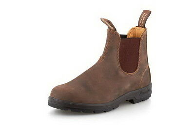Begeistert Blundstone 585 Unisex Rustic Brown Leather Dress Chelsea Ankle Boots