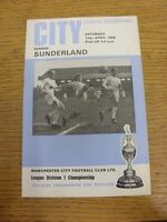 12/04/1969 Manchester City v Sunderland  (team changes). Thanks for viewing this