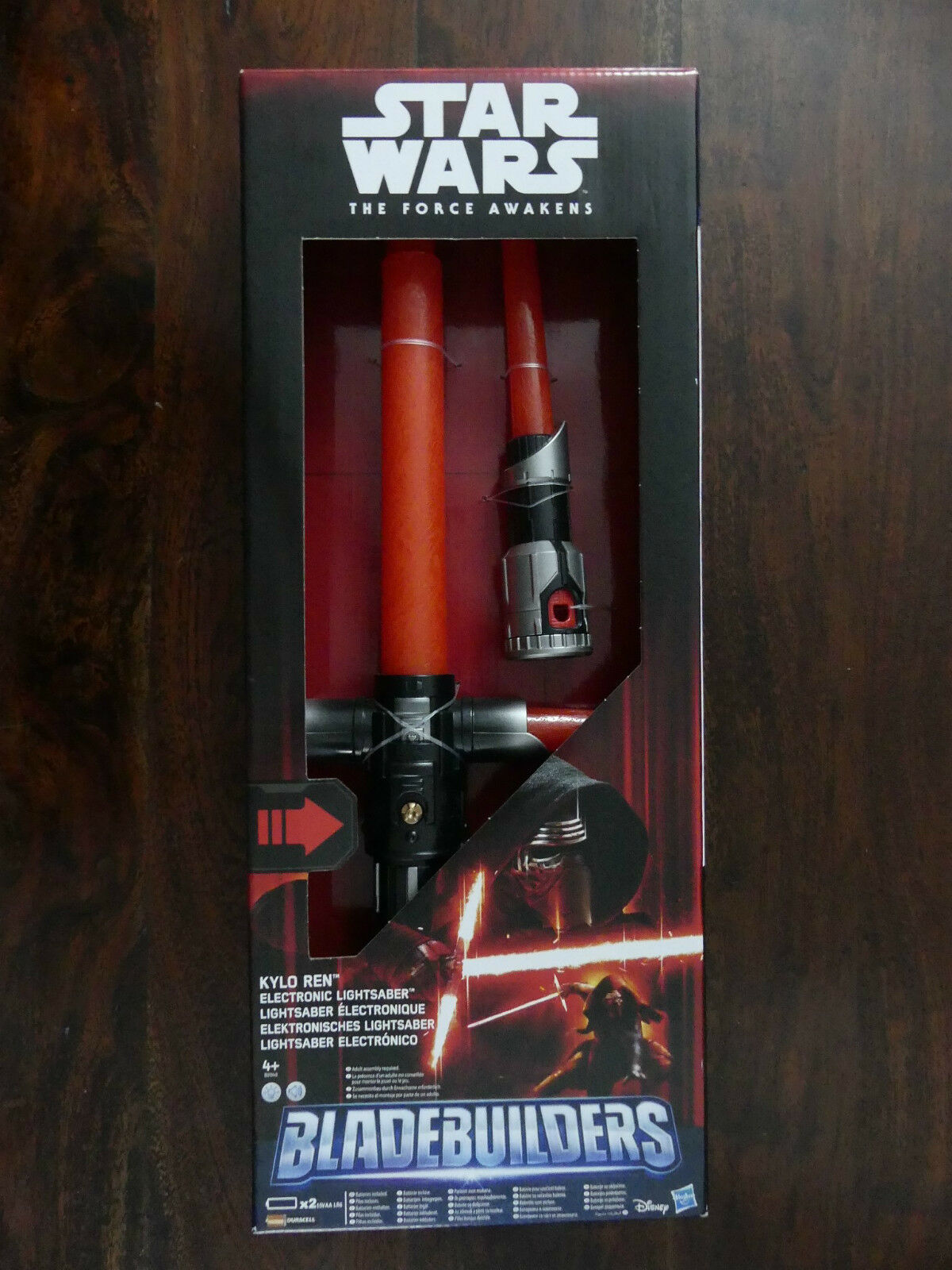 STAR WARS KYLO REN ELECTRONIC LIGHT SABER - BLADE BUILDERS STILL BOXED