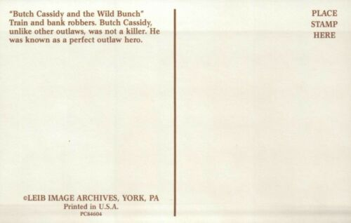 Butch Cassidy /& the Wild Bunch Train /& Bank Robbers Old Wild West Hats Postcard