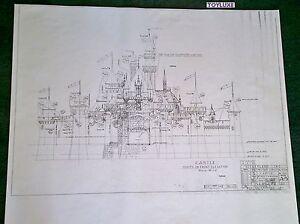 Disneyland-FANTASY-CASTLE-Disney-Blue-Print-Front-41-x-29-Black-amp-White-Copy