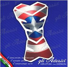 Paraserbatoio Resinato Sticker 3D Capitan America Avengers Moto