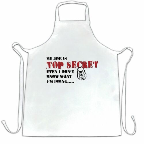 Details about  /Novelty Chef/'s Apron Even I Don/'t Know What My Job Is Joke Slogan Work