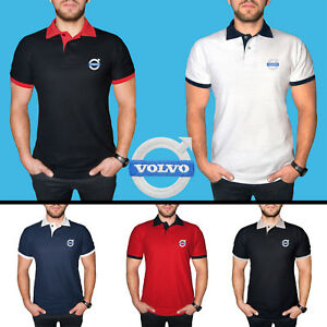 Volvo-Polo-T-Shirt-COTTON-EMBROIDERED-Auto-Car-Logo-Tee-Sport-Mens-Clothing-Gift