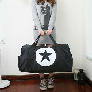 Women-Large-Weekend-Gym-Duffel-Bag-Big-Star-Shoulder-Hobo-Shopper-Tote-Handbag