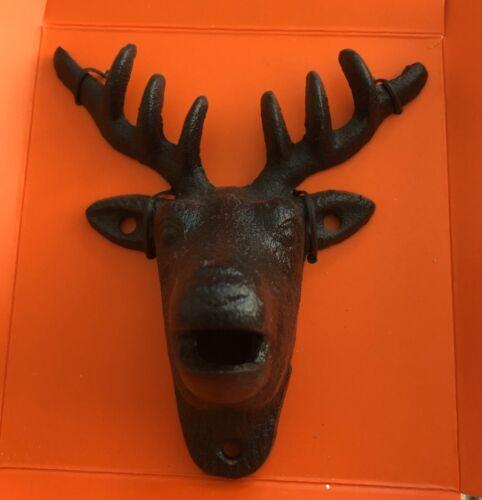 Elk Deer bottle opener Cast iron hunting cabin lodge man cave New