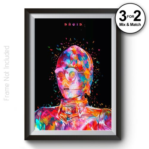 Star Wars C-3po Wall Art Print 100/% Cotton Abstract Droid Movie Poster