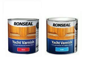 Image Is Loading Ronseal Exterior Long Lasting Yacht Varnish Satin Gloss