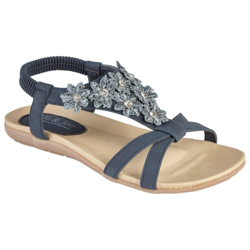 LADIES SANDALS WOMENS SUMMER BEACH PARTY LOW HEEL FLAT SHOES CASUAL FLIP FLOPS