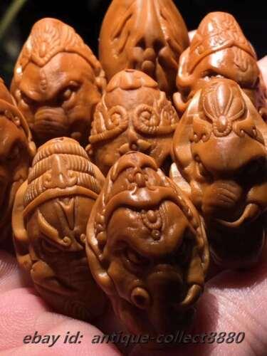 Chinese Olive Dentoliva Carved 8PCS Beads Ganesha Elephant God Bracelet DKC-042
