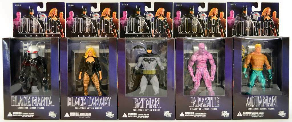 Justice LEAGUE azione cifras series 2 completare set of 5 DC Direct