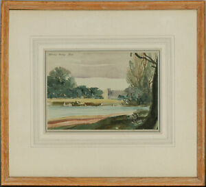 Framed-amp-Signed-1936-Watercolour-Old-Syon-House