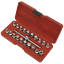 thumbnail 2 - Sealey-Oil-Drain-Plug-Key-Set-21pc-3-8-034-Sq-Drive-Garage-Workshop-DIY