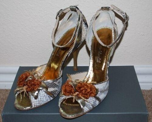 New Umberto Mancini Python Snake Skin Italian Designer shoes Sandal Pumps