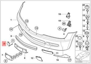 BMW Z3 Genuine Front Bumper Tow Hook Cover NEW