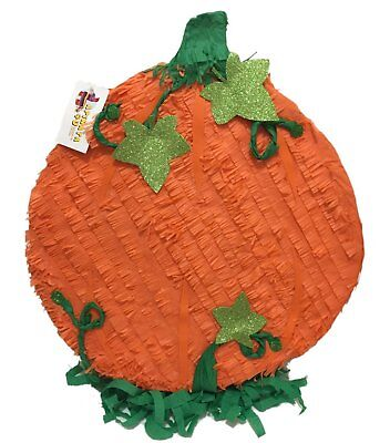 "PRIMITIVE RESIN /""WELCOME FALL/"" LIGHTED PUMPKIN WITH LEAVES"