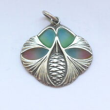 Silver & Enamel Art Nouveau Pendant C.1900 Pine Cone Levinger Bissinger Meyle
