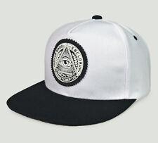 797446c3e93 Gilrs Boys Unisex Head Illuminati Eye Black Baseball Cap Snapback Hip hop  Hats