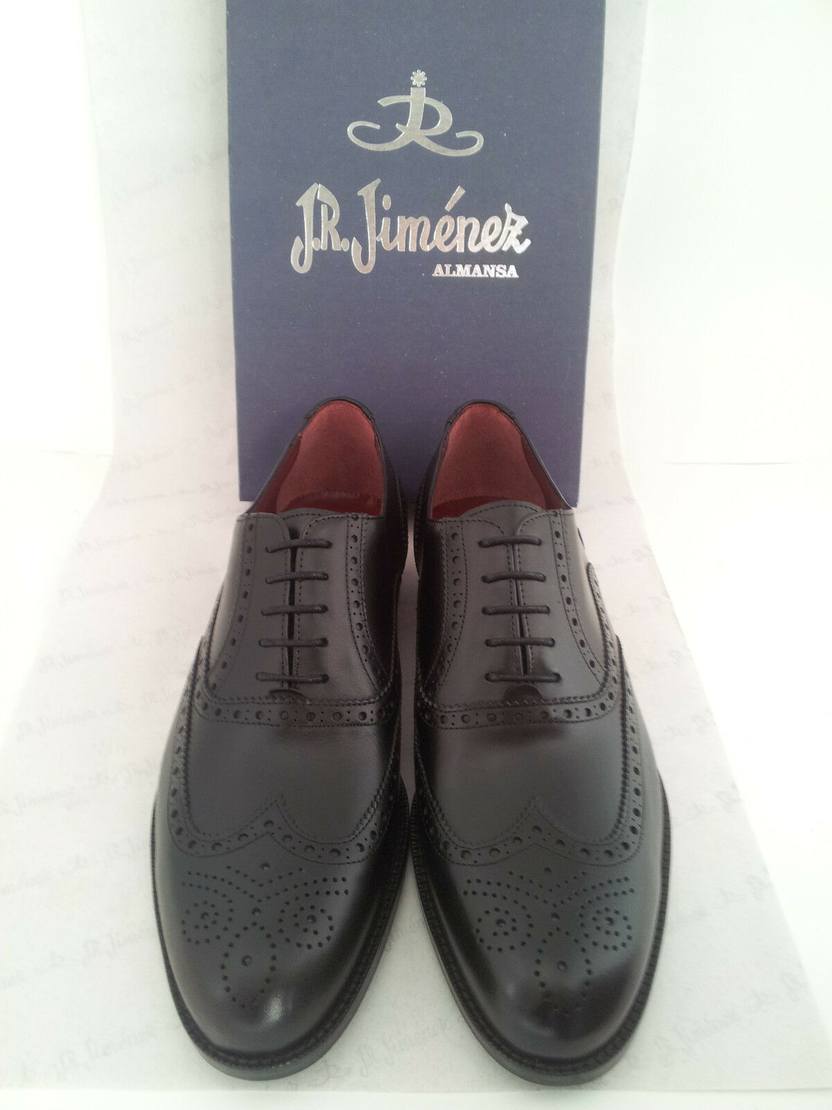 outlet Mens Oxford scarpe Leather JR JIMENEZ Marrone nero nero nero US Dimensione 6 7 8 9 10 11 12 SPAIN  caldo