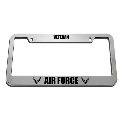 Veteran Air Force License Plate Frame Tag Holder