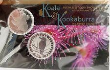 .SCARCE 2009 ANDA FAIR KOOKABURRA & KOALA 99.9% 1 OZ SILVER $1 COIN PACK.