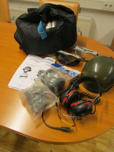 Lärm-//Augenschutzhaube Typ Heer mit Sprechsatz Bodenpersonal Helm