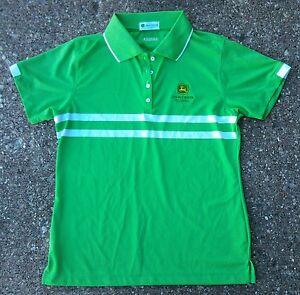 b19060cc John Deere Classic Dri-Way Golf Polo Shirt ~ Women's Ladies' Medium ...