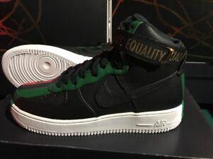 17e628b3902 Nike Air Force 1 High BHM QS Equality Black Red 836227-002 Size 10.5 ...
